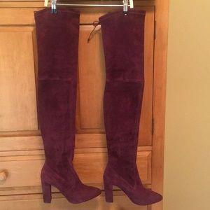 Burgundy suede OTK boots 38.5